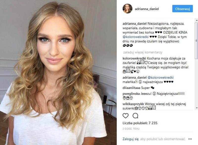 Adrianna Daniel w makijażu ślubnym