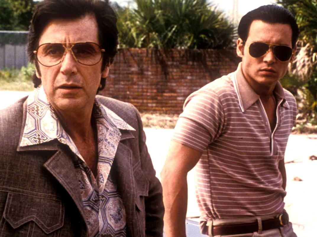 Johnny Deep u boku Al Pacino w Donnie Brasco
