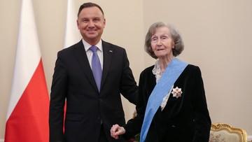 Przeżyła marsz śmierci. Zofia Posmysz-Piasecka odznaczona Orderem Orła Białego