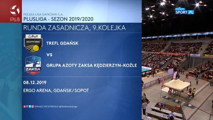 Trefl Gdańsk - Grupa Azoty ZAKSA Kędzierzyn-Koźle 1:3. Skrót meczu