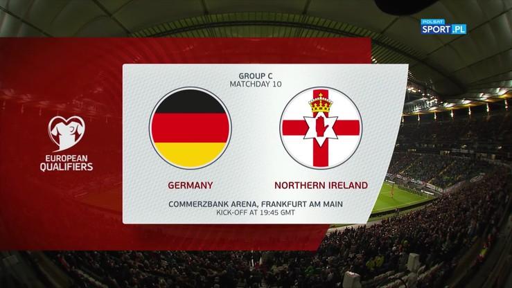 Niemcy - Irlandia Północna 6:1. Skrót meczu