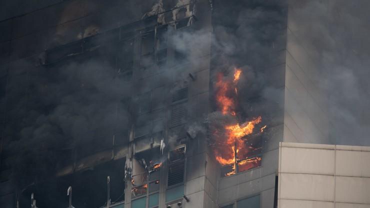 Korea Południowa. Co najmniej 88 rannych w pożarze wieżowca [WIDEO]