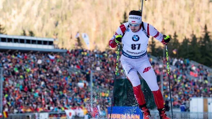 MŚ w biathlonie: 24. miejsce Guzika