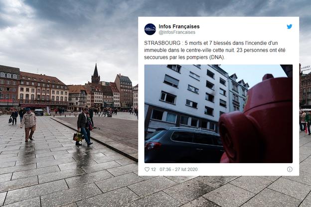 Pożar w Strasburgu. Zginęło pięć osób