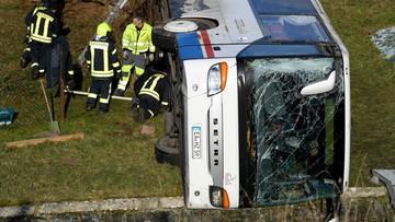 Wypadek autobusu szkolnego w Niemczech. Nie żyje dwoje ośmioletnich dzieci [ZDJĘCIA]
