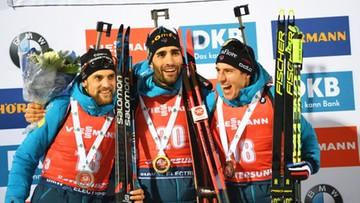 PŚ w biathlonie: Poczwórny sukces Francuzów w Oestersund