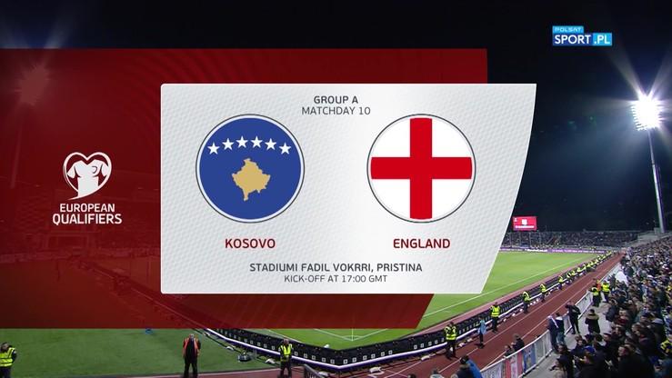 Kosowo - Anglia 0:4. Skrót meczu