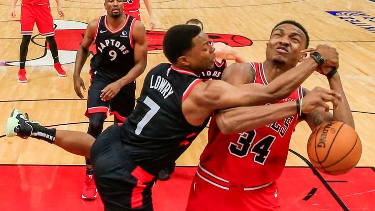 NBA: Obrońcy tytułu wysoko wygrali w Chicago