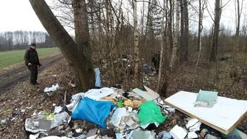 Hałda śmieci w lesie. Straż Leśna ustaliła, kto je podrzucił