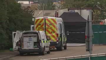 Ciała znalezione w ciężarówce w Anglii. Ofiary mogły zamarznąć