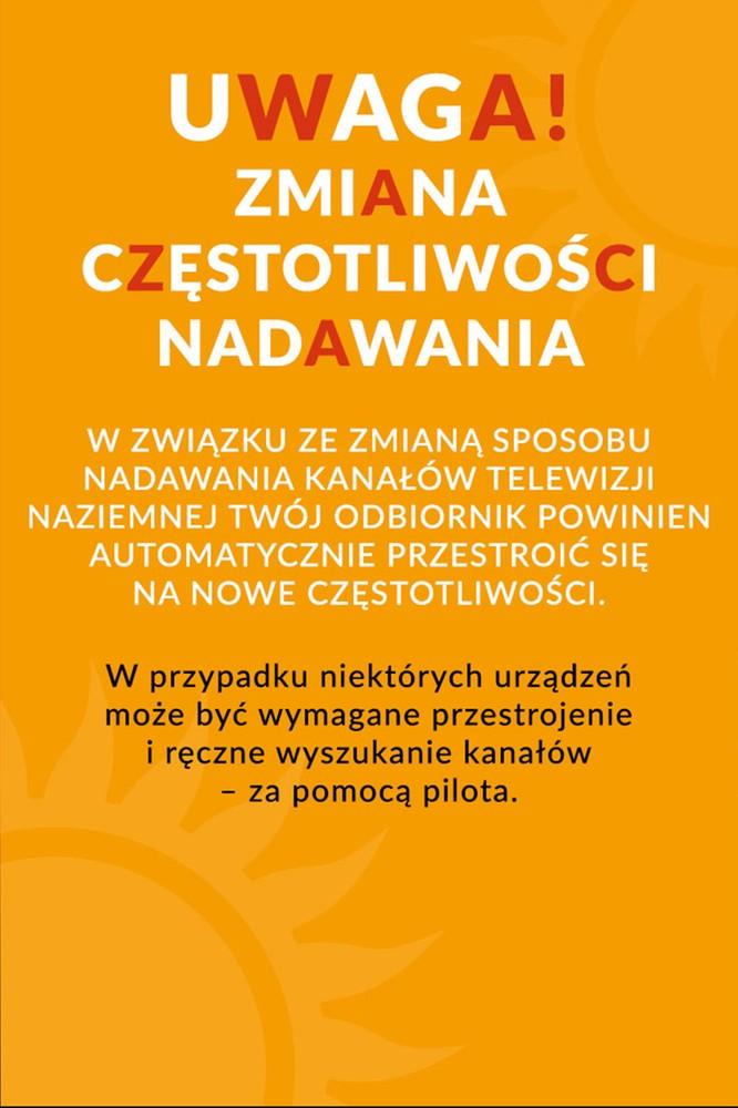 2020-06-03 Informacja dla widzów cyfrowej telewizji naziemnej - Polsat.pl