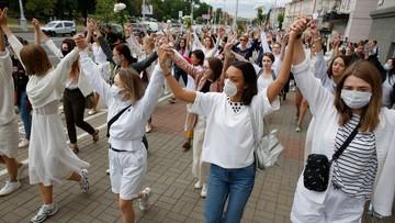 Protesty na Białorusi. Kobiety wyszły na ulice
