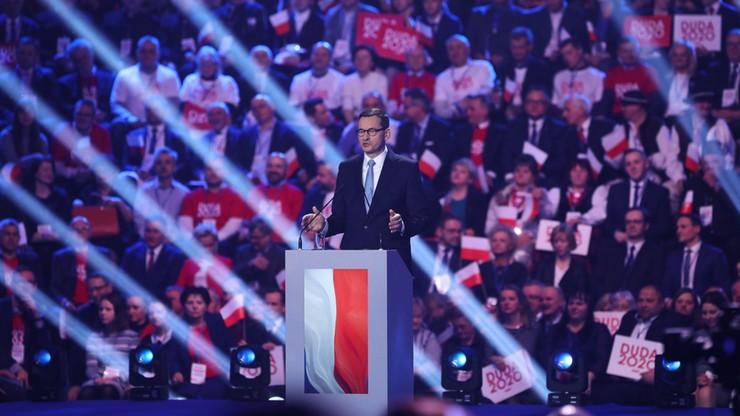Konwencja wyborcza Andrzeja Dudy. Wystąpienie premiera Mateusza Morawieckiego
