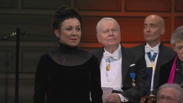 Olga Tokarczuk z literacką Nagrodą Nobla. Zobacz historyczny moment