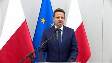 """""""Nie będę na wiecu Dudy"""". Trzaskowski o debacie wyborczej TVP w Końskich"""