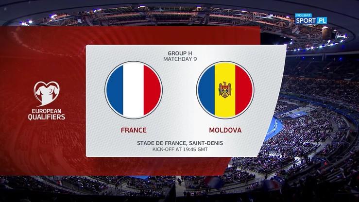 Francja - Mołdawia 2:1. Skrót meczu