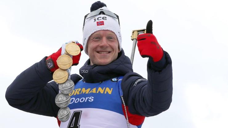 MŚ w biathlonie: Johannes Boe zdeklasował rywali w biegu na 15 km