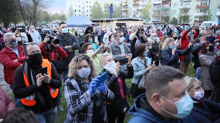 Tłumy na koncercie Kasi Kowalskiej w Ciechanowie. Mimo epidemii