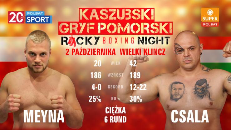 Kacper Meyna przed Rocky Boxing Night: Jestem silniejszy, dynamiczniejszy i wytrzymalszy