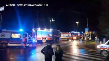 Zderzenie autobusu z autem dostawczym w Małopolsce. Pięć osób rannych