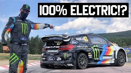Ken Block za kierownicą pierwszego na świecie elektrycznego pojazdu rallycrossowego [FILM]