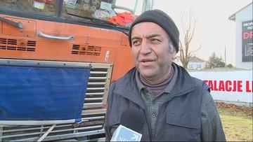 Irański kierowca utknął w Polsce. Pomagają mu koledzy po fachu