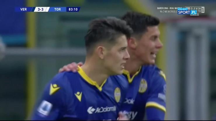 Pierwszy gol Stępińskiego w tym sezonie Serie A. Wspaniała pogoń Hellas [ELEVEN SPORTS]