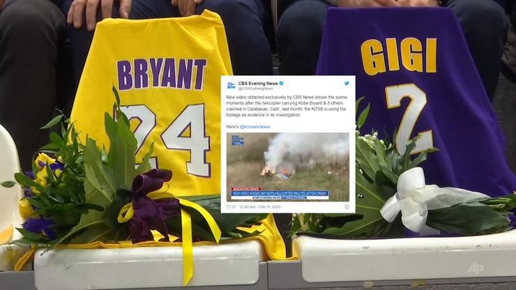 Katastrofa śmigłowca Kobego Bryanta. Nowe nagranie