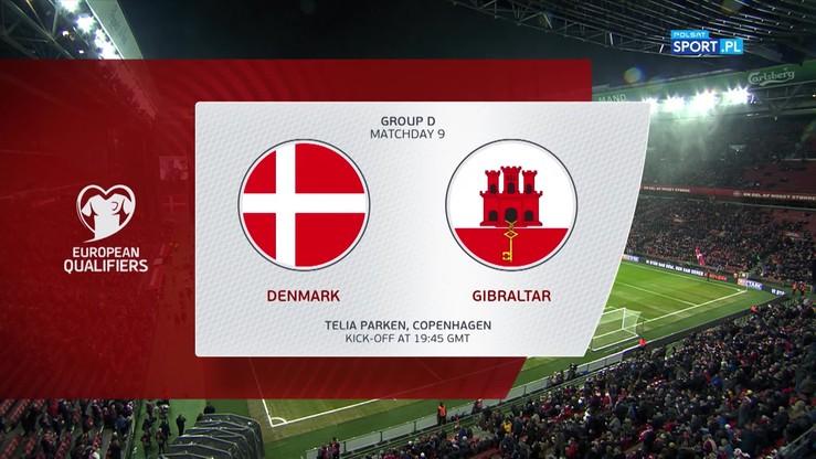 Dania - Gibraltar 6:0. Skrót meczu