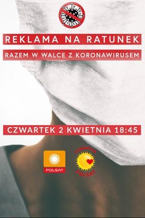 """2020-03-27 """"Reklama na Ratunek - Razem w walce z koronawirusem"""" - Polsat.pl"""