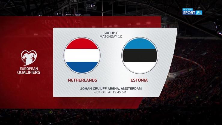 Holandia - Estonia 5:0. Skrót meczu