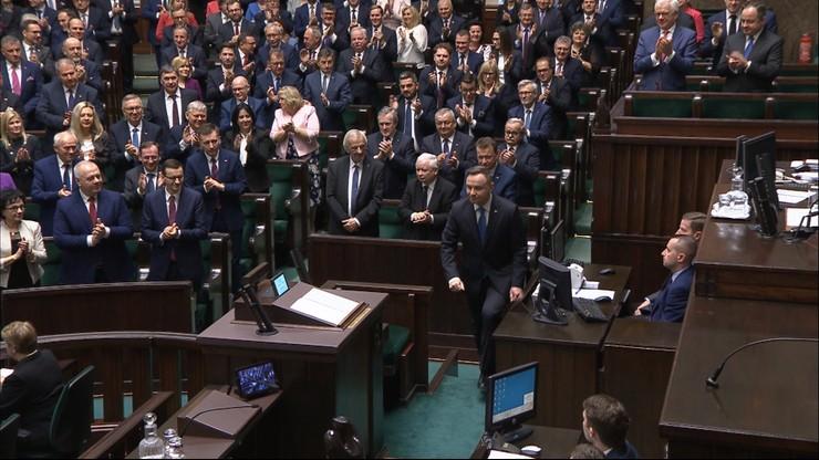 Wyjątkowa sytuacja w Sejmie. Prezydent wrócił na mównicę