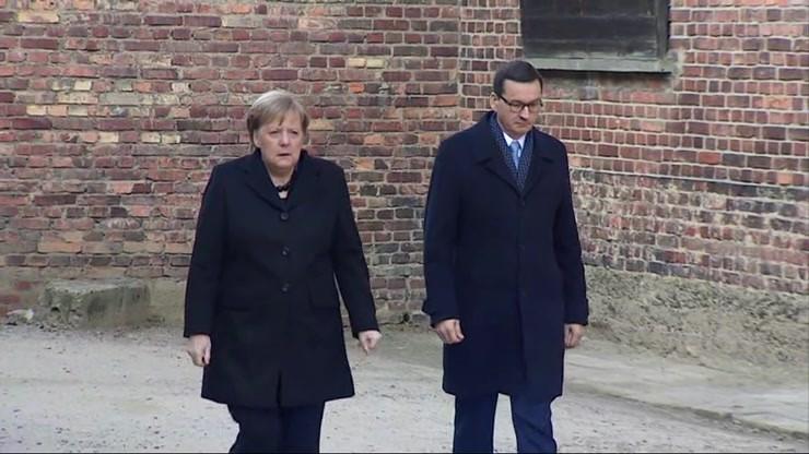Angela Merkel i Mateusz Morawiecki odwiedzili Auschwitz
