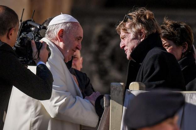 Robert Redford rozmawiał z papieżem Franciszkiem na Placu św. Piotra