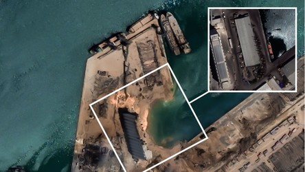 Ogrom zniszczeń w Bejrucie widoczny na najnowszych obrazach z satelity [ZDJĘCIA]