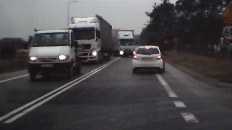 Z ciężarówką na czołówkę. Niebywały refleks kierowcy osobówki [WIDEO]