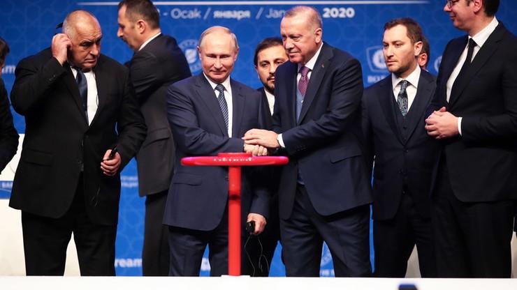 "Gazociąg na dnie Morza Czarnego. Erdogan i Putin uruchomili ""Turecki Potok"""