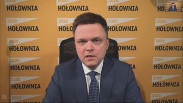 """Chałupnicze łatanie wyborów przez Pocztę Polską to kabaret - Hołownia w """"Wydarzeniach i Opiniach"""""""