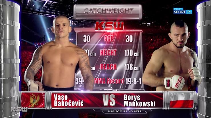 Borys Mańkowski - Vaso Bakočević. Skrót walki