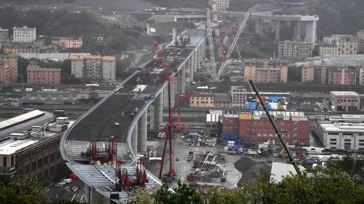 """Po tragicznej katastrofie odbudowano wiadukt w Genui. """"To symbol nadziei dla Włochów"""""""