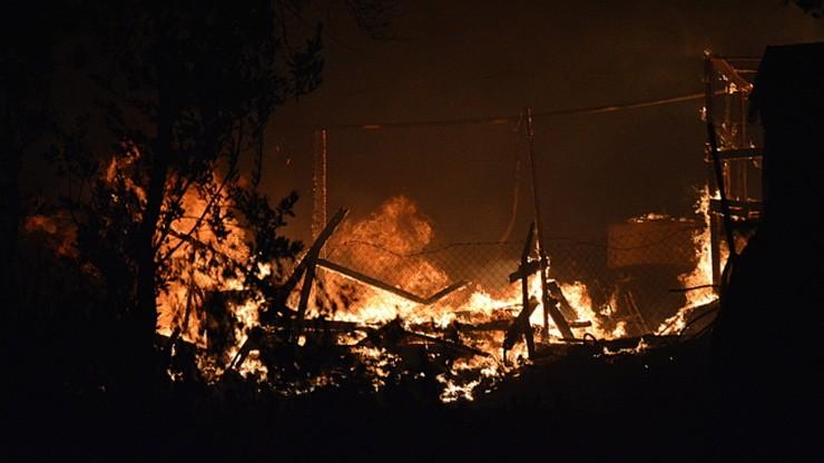Drugi w ciągu doby pożar w obozie dla uchodźców na Lesbos