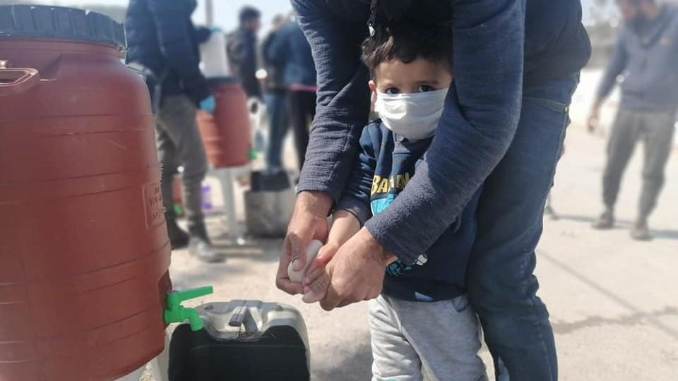 Dziecko w obozie dla uchodźców