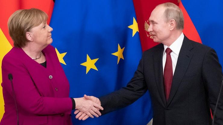 Putin i Merkel rozmawiali o budowie Nord Stream 2, Iranie i Libii