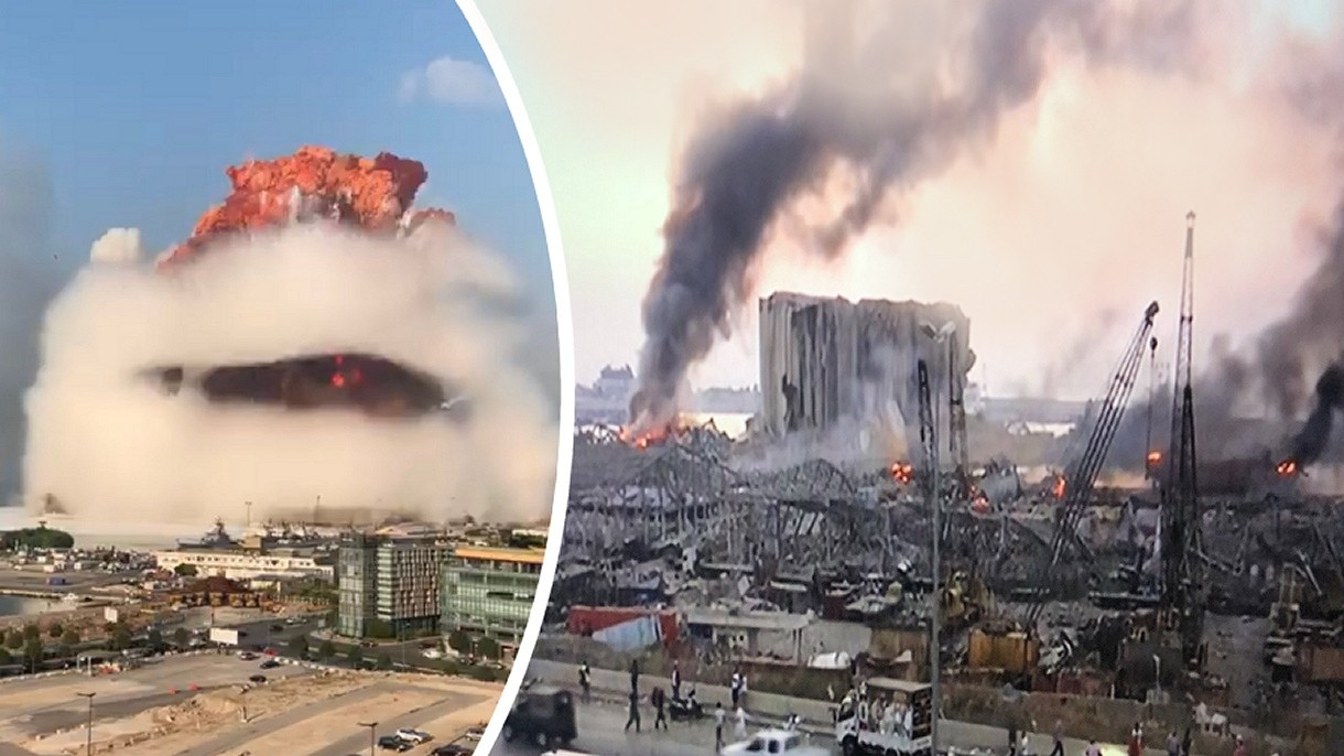 """Zobacz potężną eksplozję w Bejrucie. """"To było jak wybuch bomby atomowej"""" [FILMY]"""