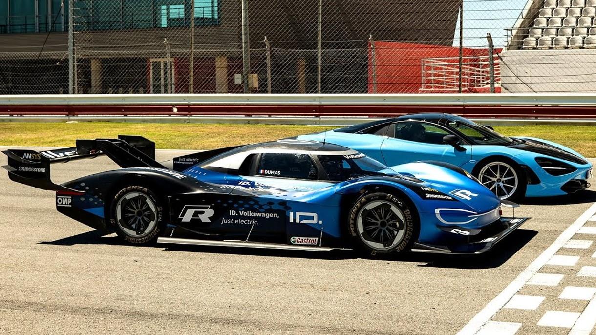 Elektryczny ID.R rozgromił na torze supersamochód McLaren 720s (film)