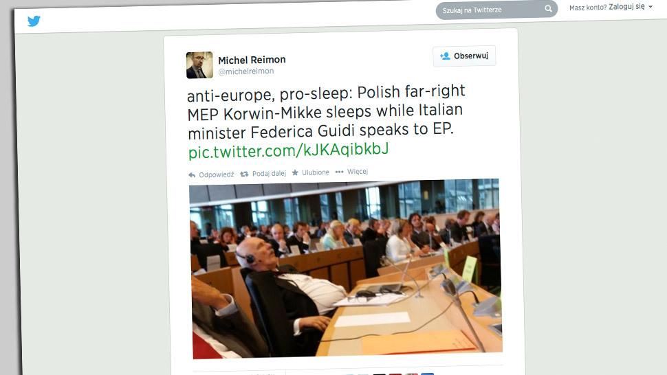 Janusz Korwin-Mikke został we wtorek gwiazdą Twittera