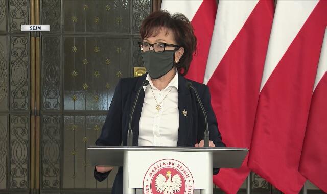 Marszałek Sejmu Elżbieta Witek o ustawach w sejmowej zamrażarce