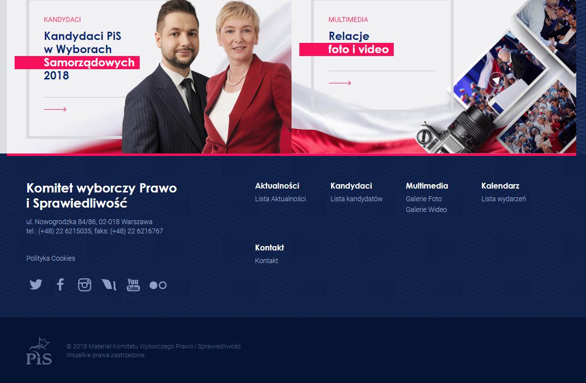 Zrzut ekranu strony wybierzpis.org.pl