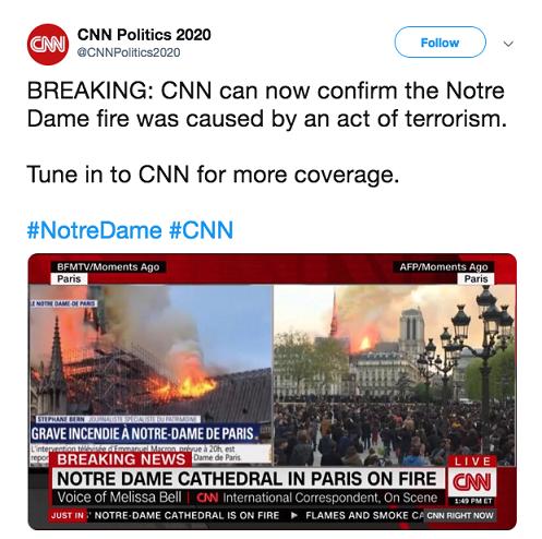 Konto podszywające się pod CNN