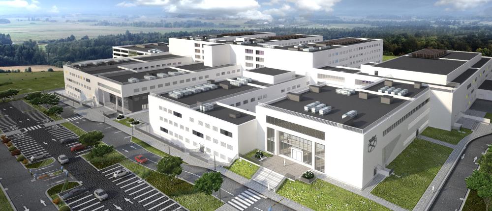 Wizualizacja nowej siedziby krakowskiego Szpitala Uniwersyteckiego